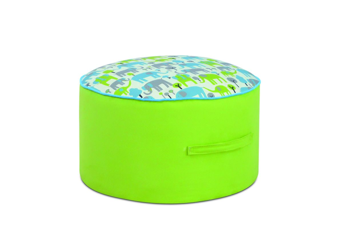 Stupendous Round Foam Ottoman In Trunk Tales By Kangaroo Trading Co Ship Squirreltailoven Fun Painted Chair Ideas Images Squirreltailovenorg