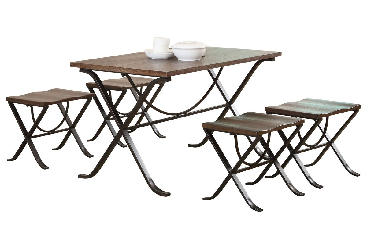 Kendry Table + 4 Stools from Gardner-White Furniture