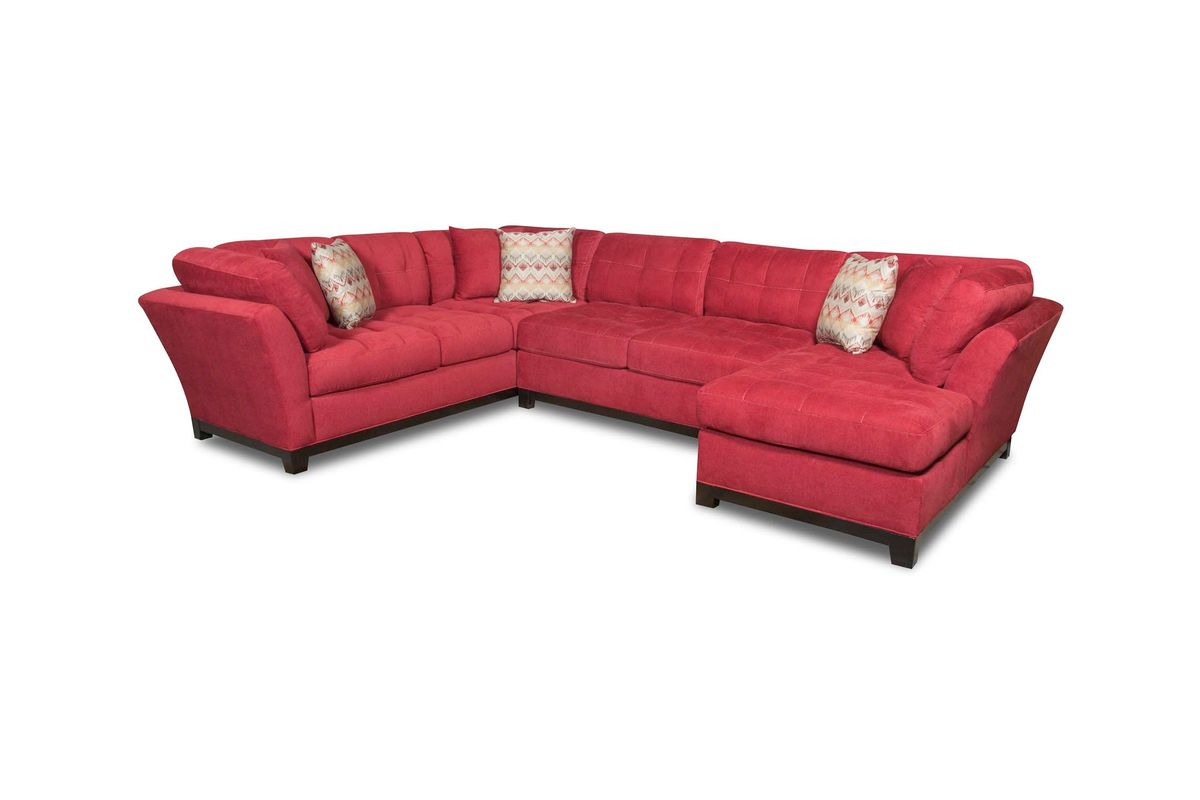 Cardinal right arm facing sectional at gardner white for Furniture 60 months no interest