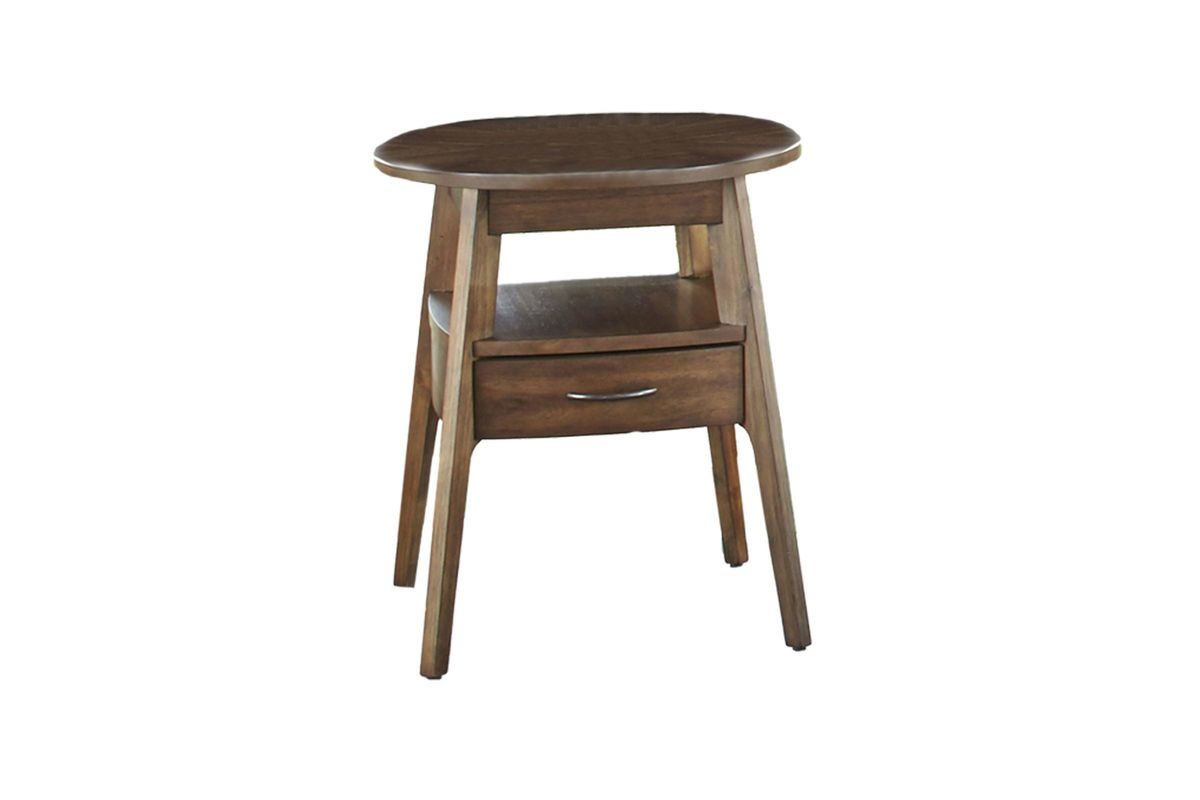 Oval End Table With Drawer At Gardner-White