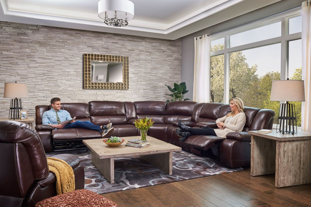 Amarillo Reclining Leather Sectional At Gardner White