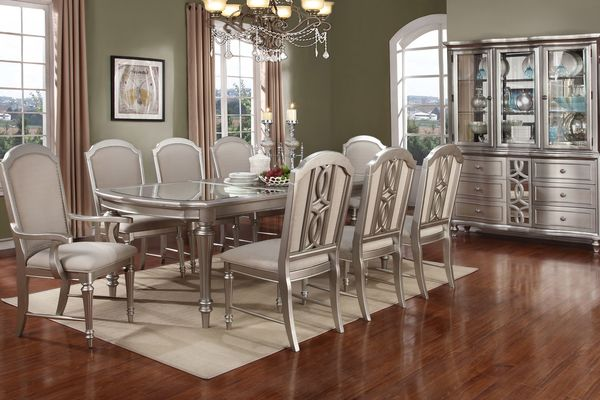 Colleen Dining Table + 4 Dining Chairs + 2 Arm Chairs