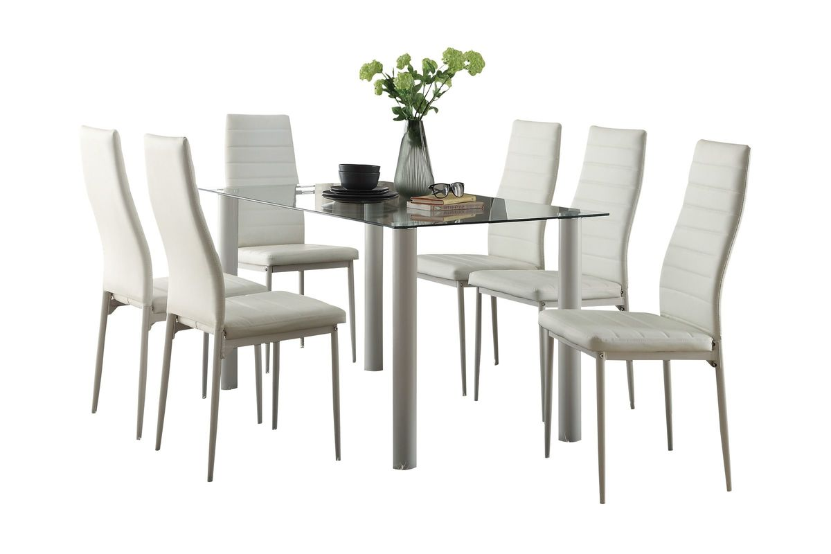 Rosa Table + 4 Side Chairs from Gardner-White Furniture