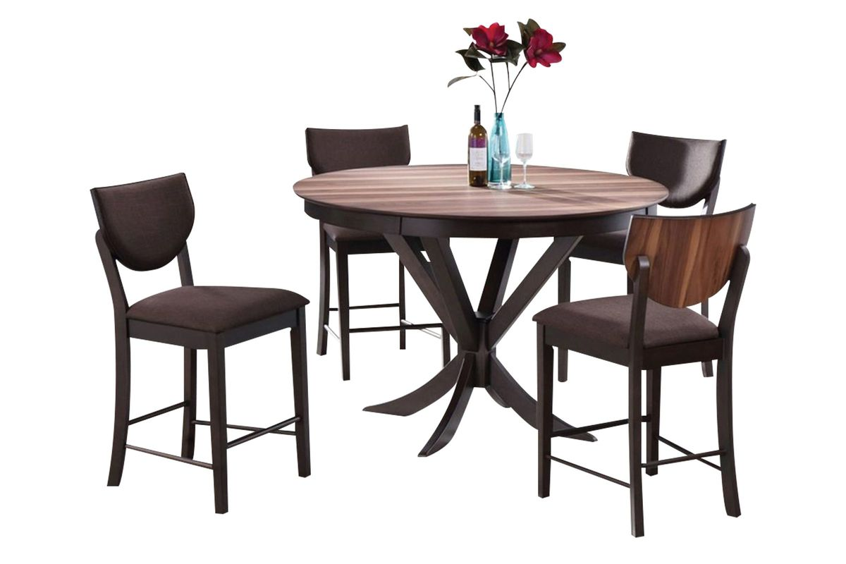 Turner Round Pub Table + 4 Stools from Gardner-White Furniture