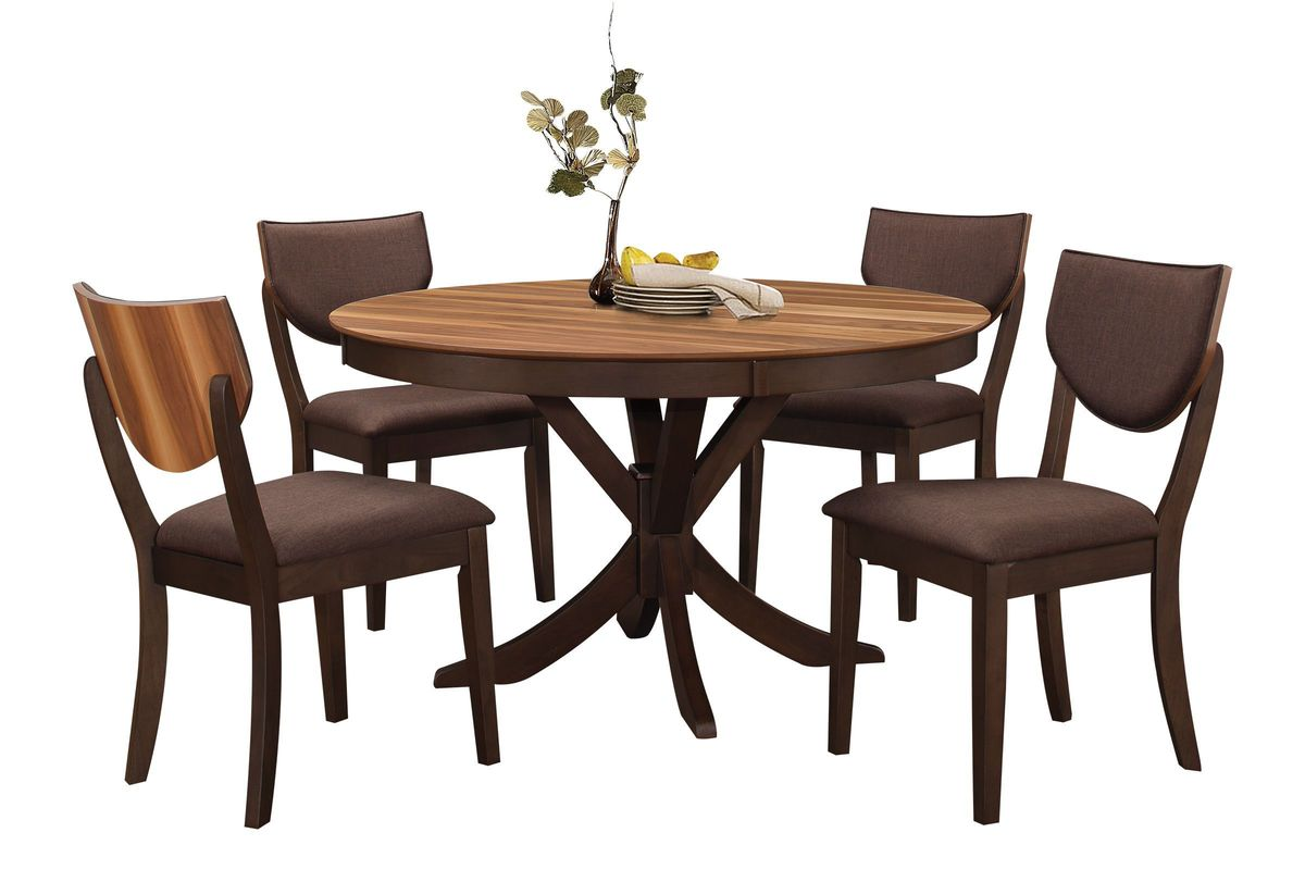 turner round dining table 4 side chairs. Black Bedroom Furniture Sets. Home Design Ideas