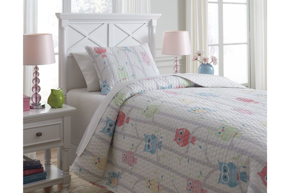 Lucille Twin Coverlet Set by Ashley from Gardner-White Furniture