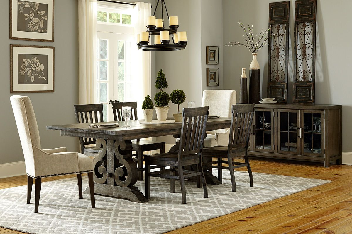 Bellpine Rectangular Dining Table 2 Side Chairs 2