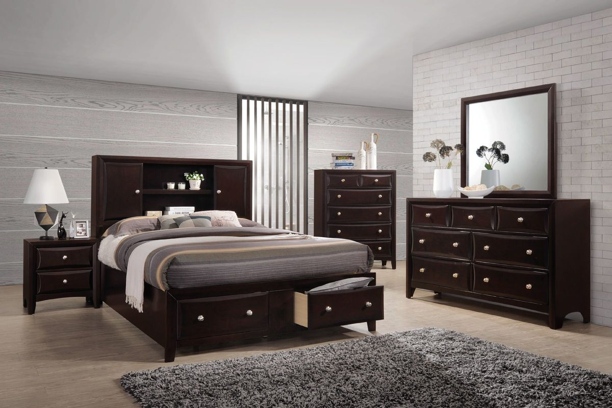 Solitude 5 piece king bedroom set at gardner white for Bedroom packages with mattress