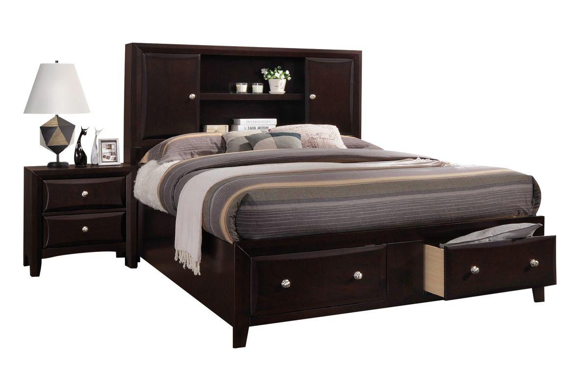 Solitude Queen Storage Bed