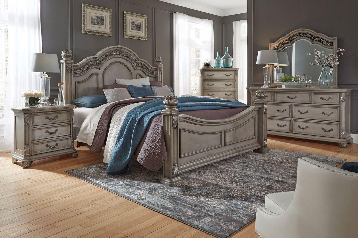 Messina 3-Piece Queen Bedroom Set with 32