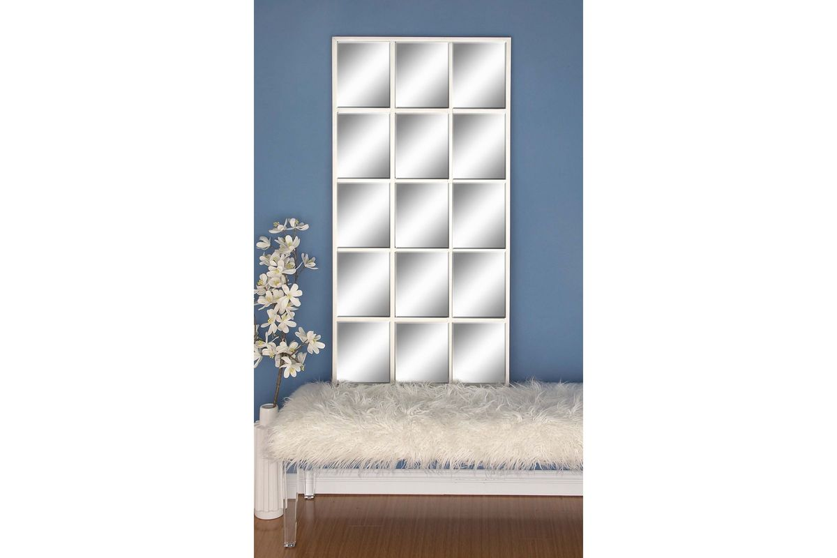 "Modern Reflections 56"" 15 Panel Rectangular Wall Mirror In"