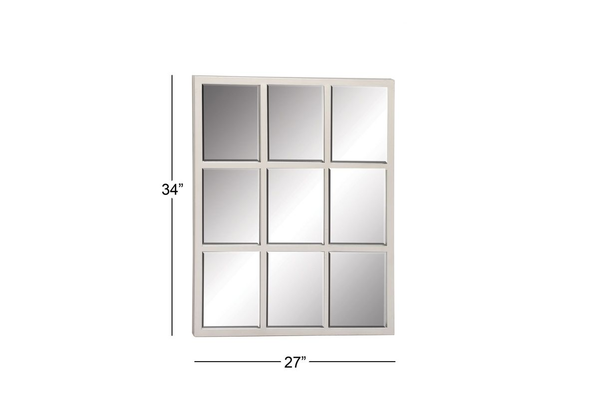 "Modern Reflections 34"" 9 Panel Rectangular Wall Mirror In"
