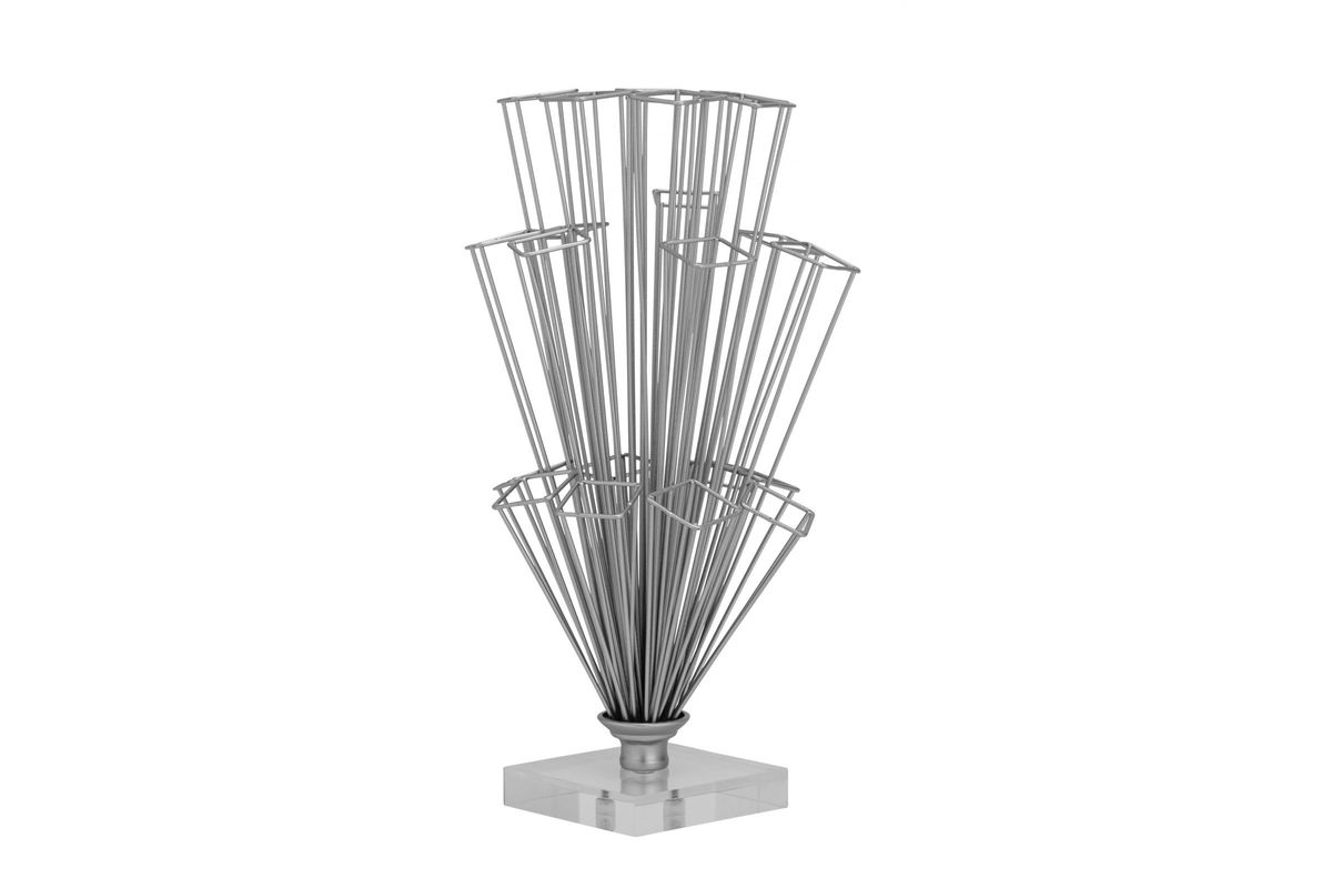 Industrial Arts Rectangle Shape Bouquet Sculpture in Silver from Gardner-White Furniture