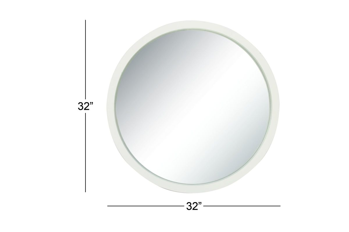 Modern reflections 32 round wood wall mirror in matte for White round wall mirror