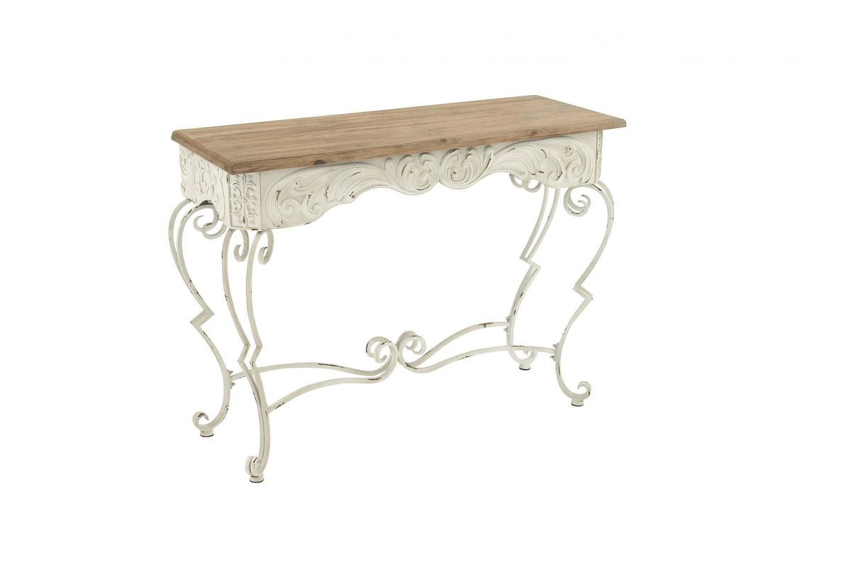 super popular 64056 a45d0 New Traditional Wrought Iron Console Table by UMA