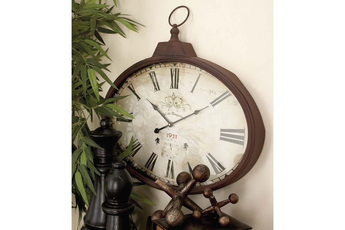French inspired 1920s style oval wall clock by uma share amipublicfo Images