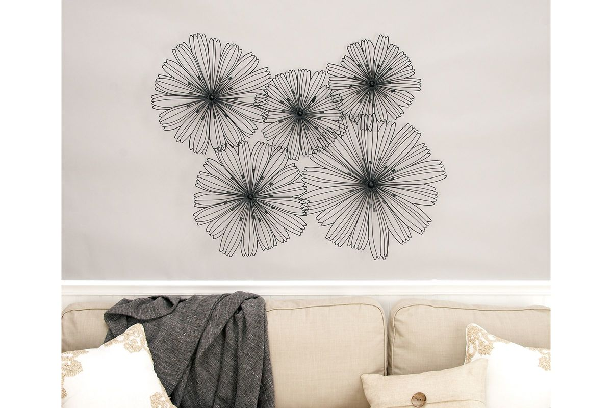 Modern Reflections Metal Flower Wall Decor at Gardner-White
