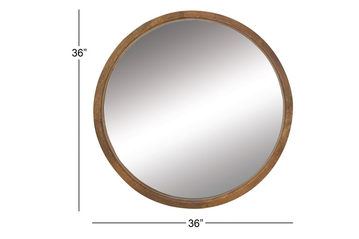 Modern reflections 36 round wall mirror in natural by uma Modern round mirror