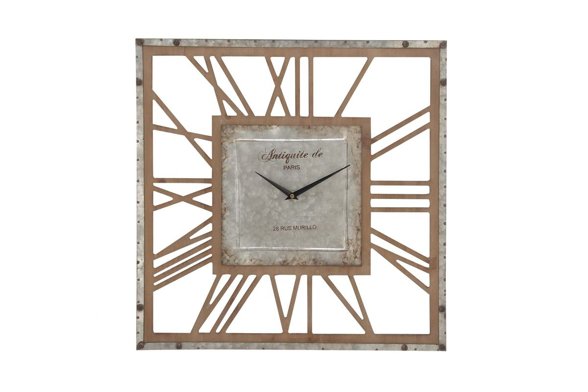 Rustic Reflections 22 Quot Square Metal Wall Clock At Gardner