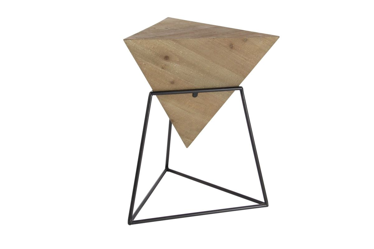 Modern Reflections Triangle Accent Table In NaturalBlack By UMA - Black triangle end table