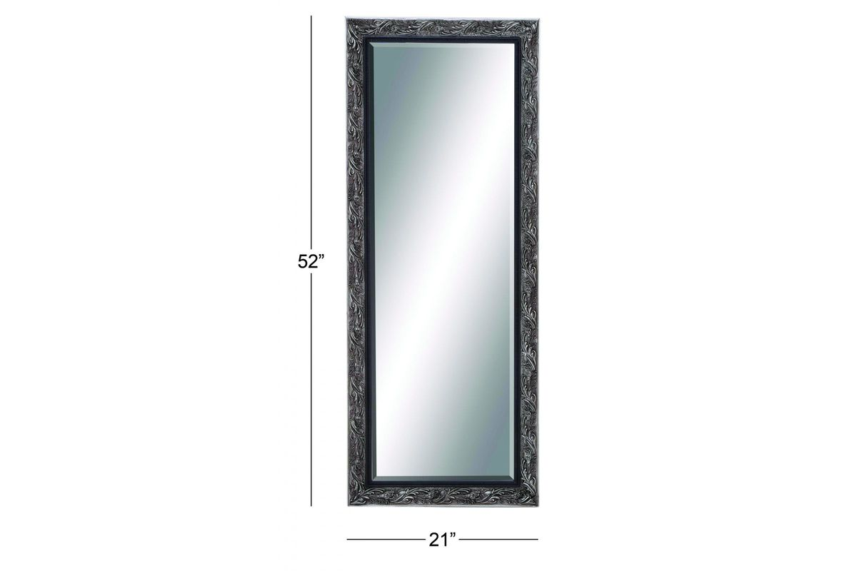 Updated traditional tall beveled wall mirror in dark for White tall wall mirror