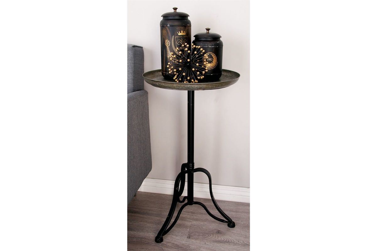 Rustic Industrial Distressed Accent Table At Gardner-White