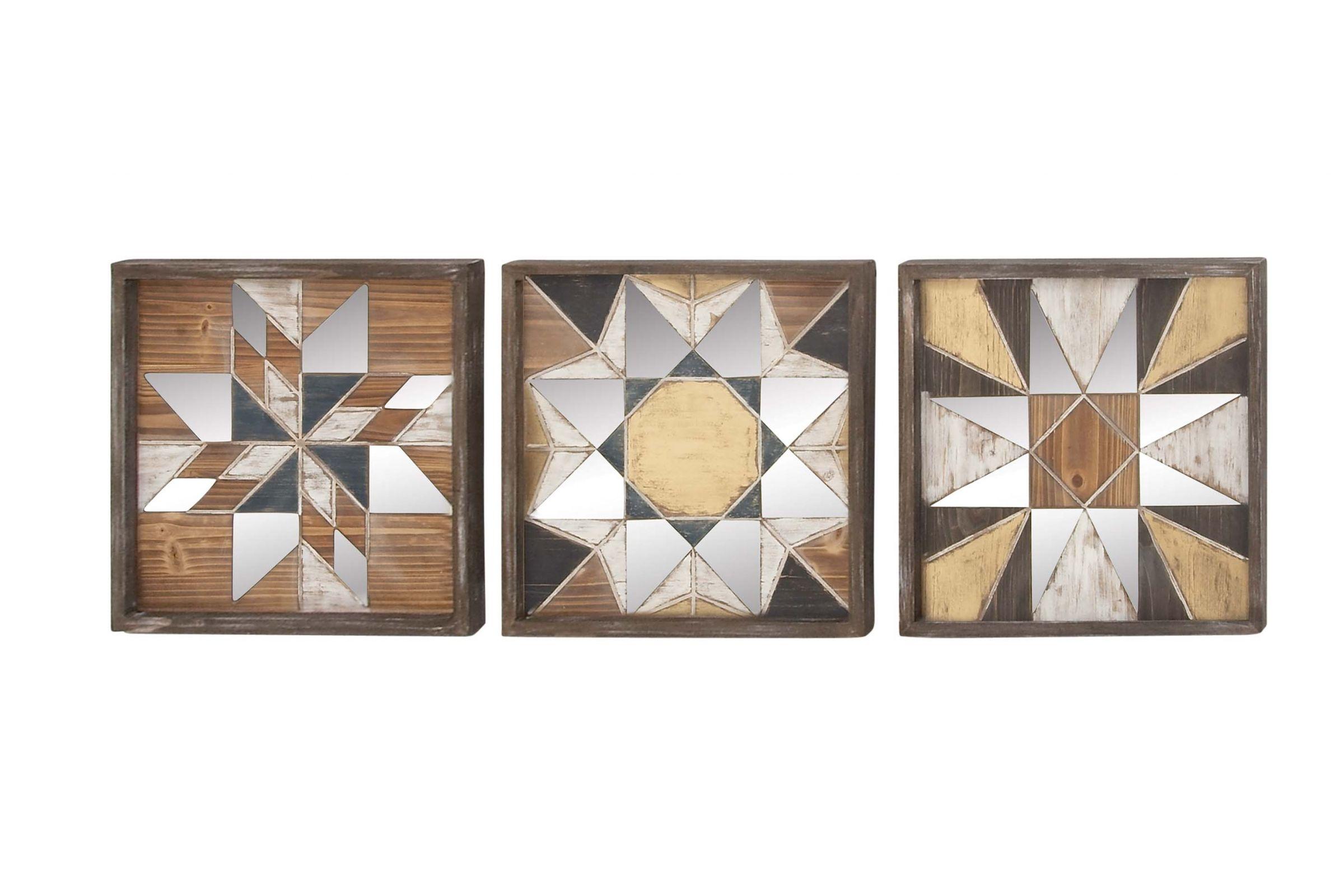 Rustic Reflections Geometric Wall Decor