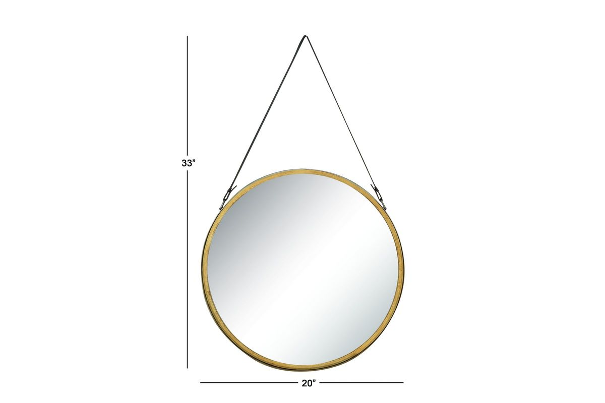 Modern reflections round hanging wall mirror by uma at for White round wall mirror