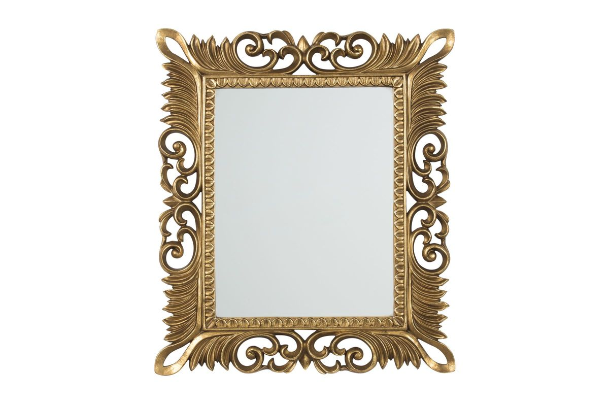 Denisha Accent Mirror in Antique Gold Finish by Ashley from Gardner-White Furniture