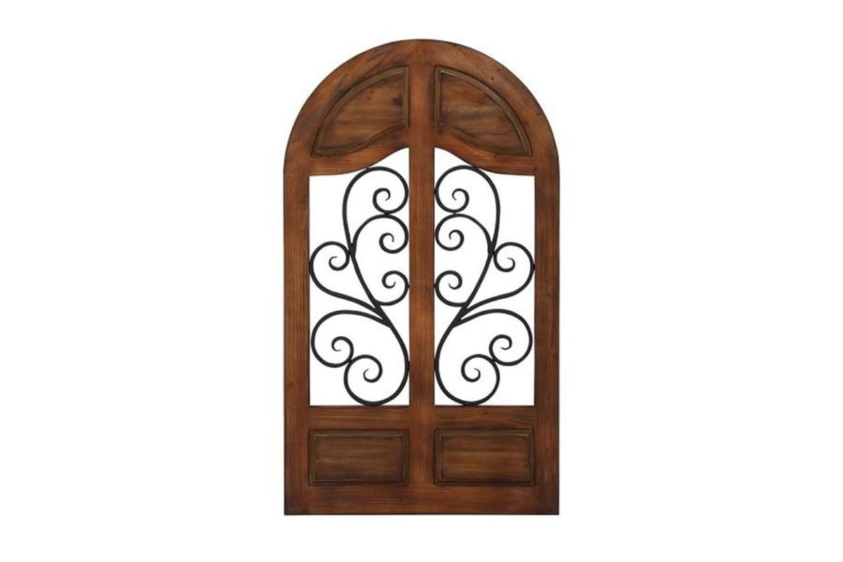 Rustic Reflections Wrought Iron Cathedral Wall Decor from Gardner-White Furniture