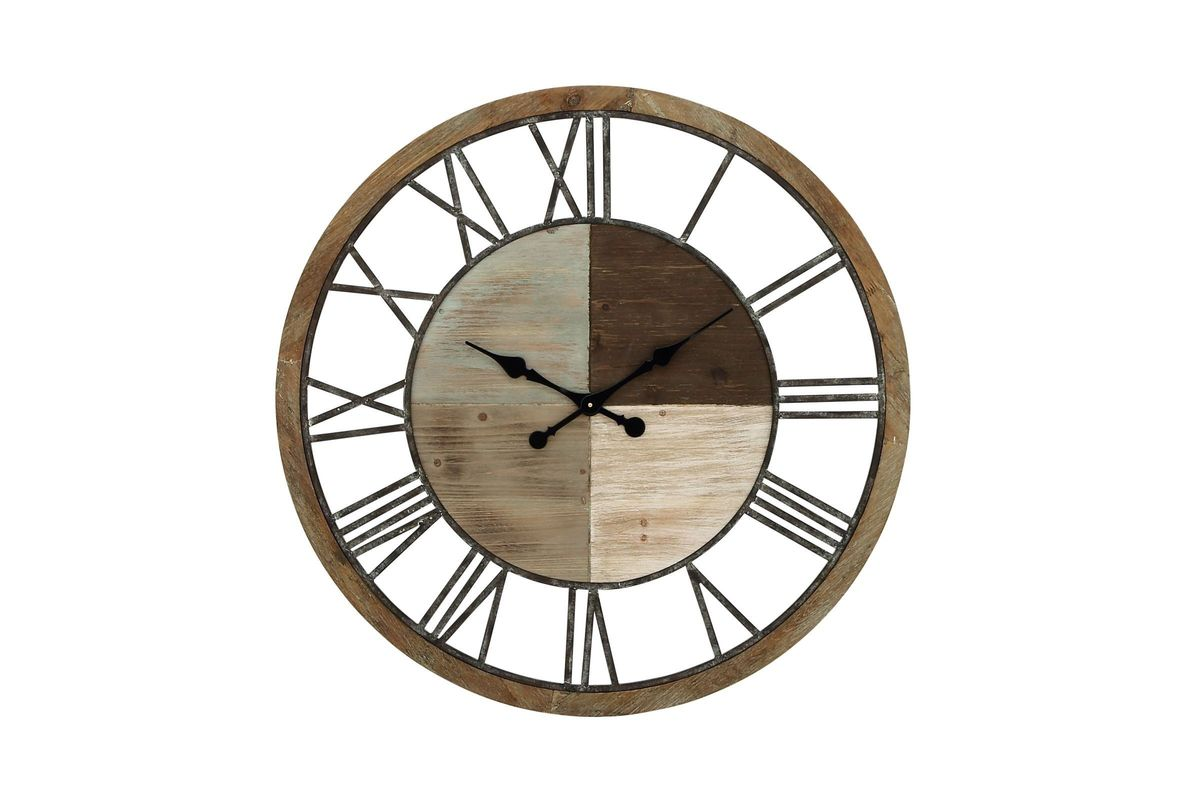 Rustic Reflections 36 Quot Round Cypress Wood Wall Clock At