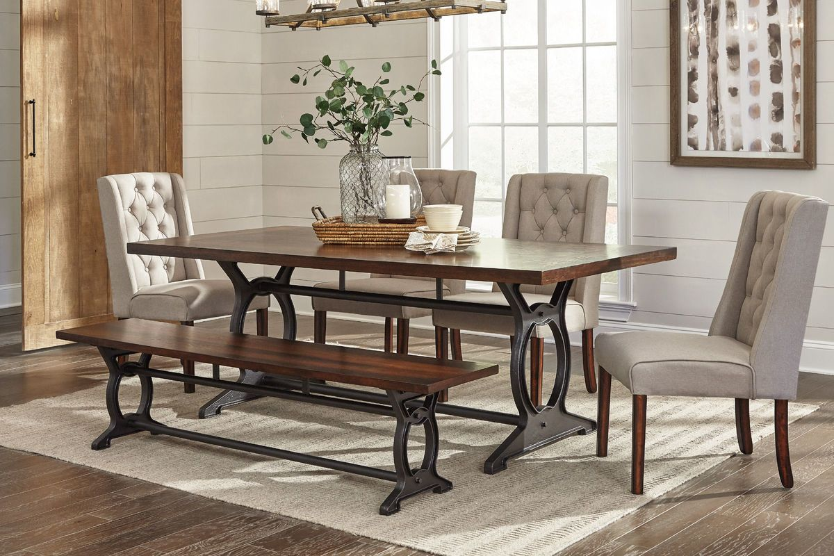 Laurel Dining Table 4 Side Chairs Bench At Gardner White
