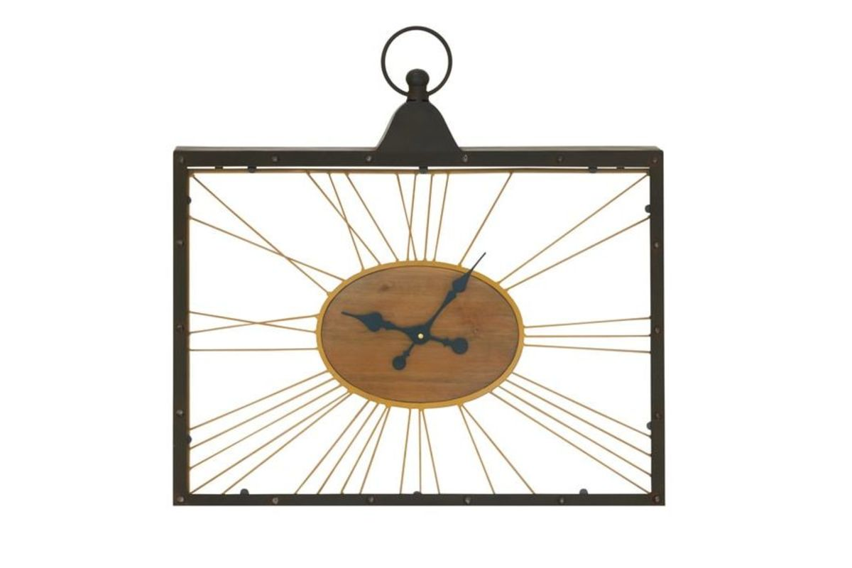 Rustic reflections rectangular spoke wall clock by uma rustic reflections rectangular spoke wall clock by uma from gardner white furniture amipublicfo Gallery