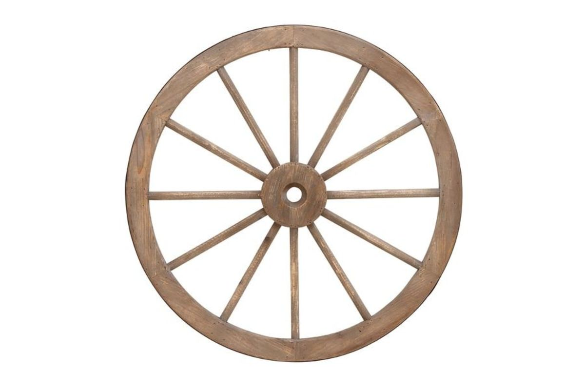Western Inspired Wagon Wheel from Gardner-White Furniture