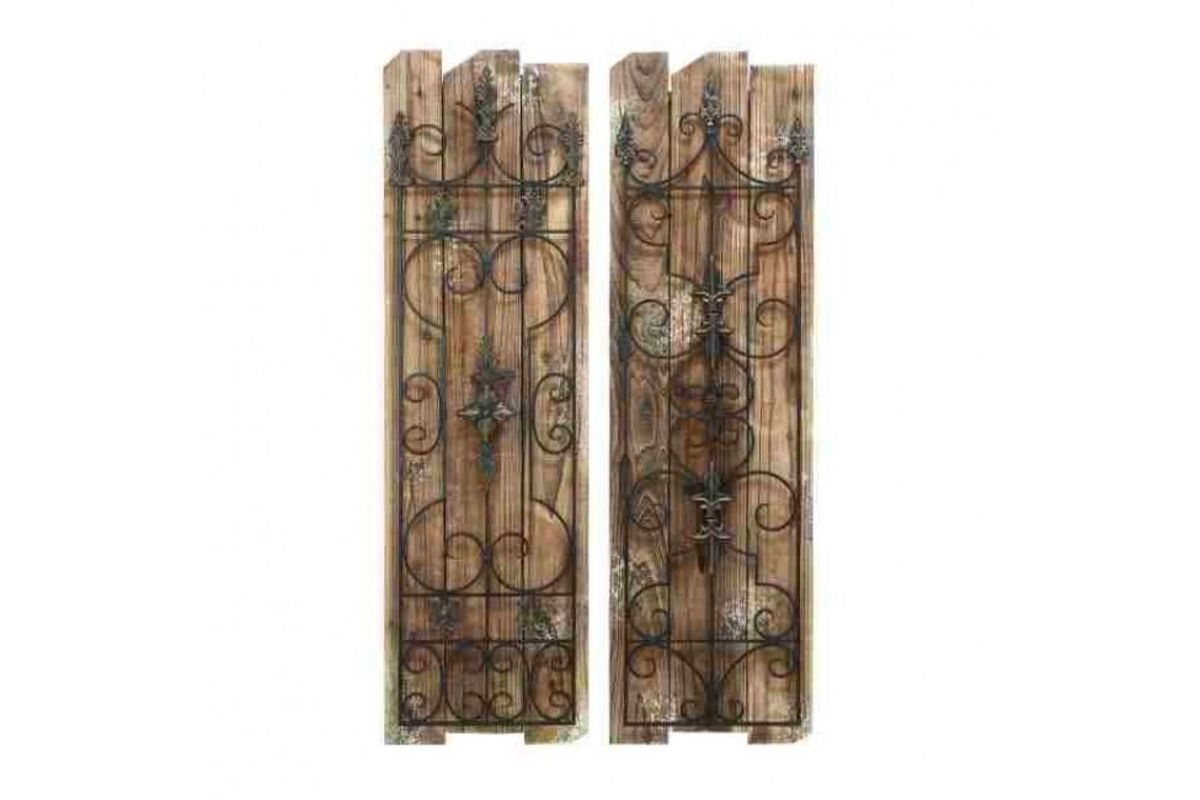 Wrought Iron Wall Panels: French Inspired Wrought Iron Wall Panel (Set Of 2) At