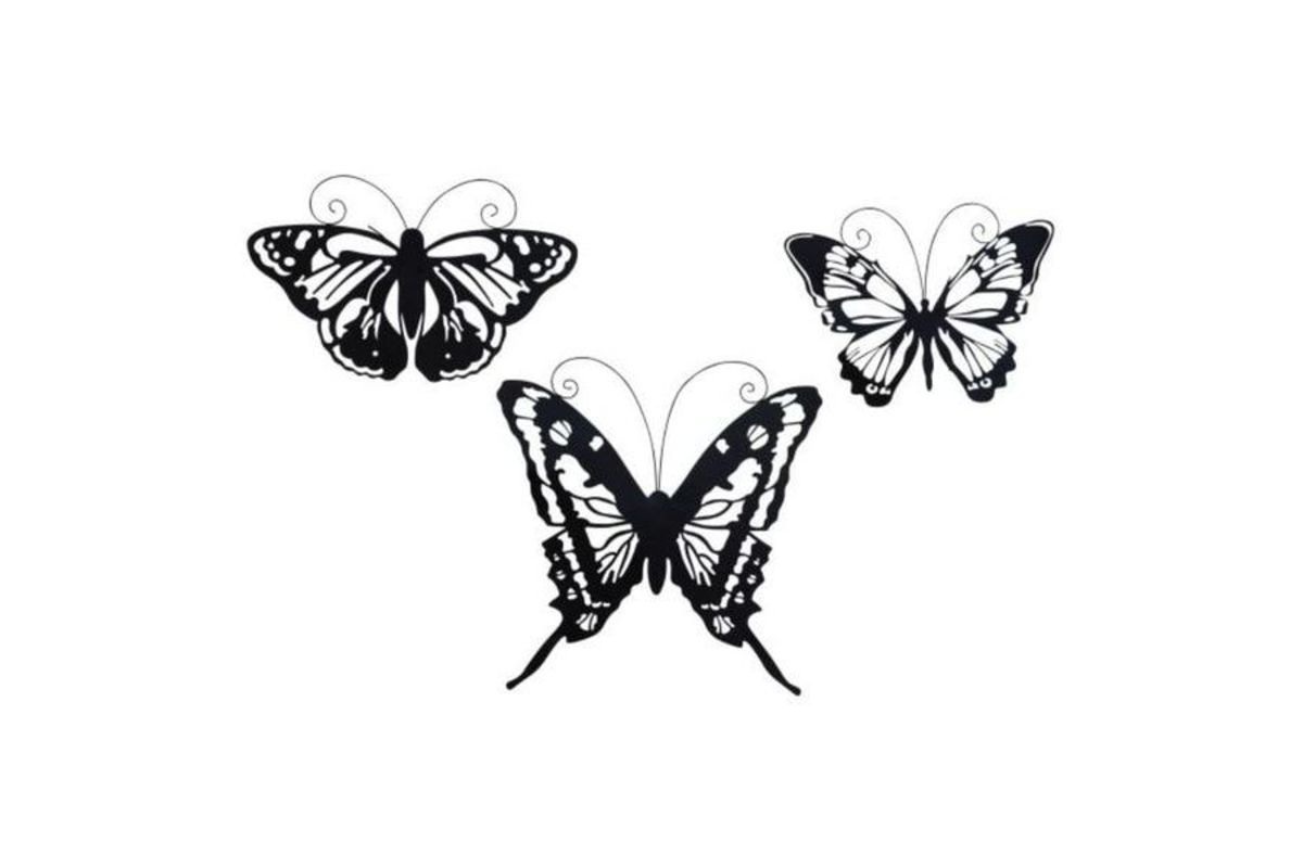 Amazing Animals Butterfly Wall Decor (Set Of 3) From Gardner White Furniture