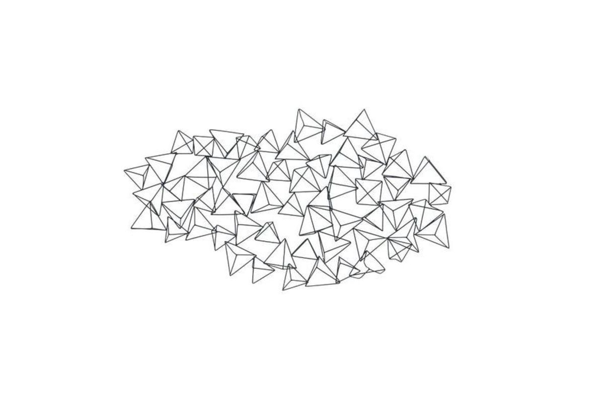 Modern Reflections 3 D Triangle Wall Decor