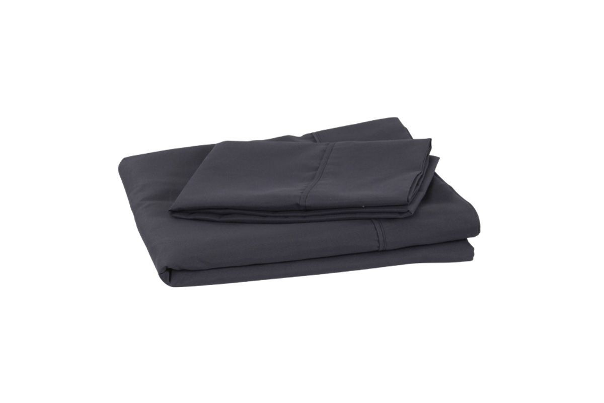 King Microfiber Sheets in Charcoal by Brooklyn Bedding from Gardner-White Furniture