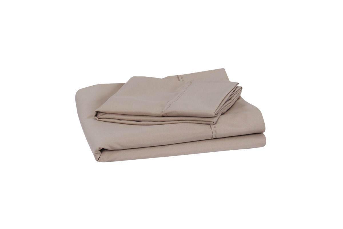 King Microfiber Sheets in Khaki by Brooklyn Bedding from Gardner-White Furniture