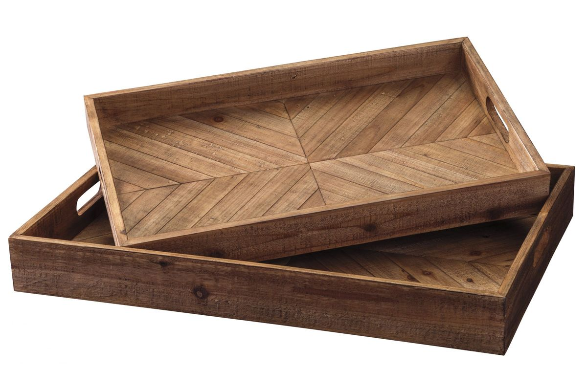 Dewitt Tray Set of 2 by Ashley from Gardner-White Furniture