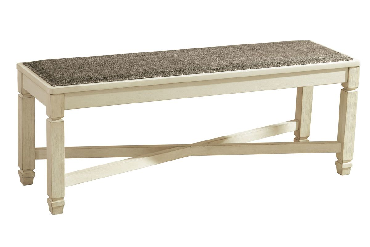 Bolanburg Large Upholstered Dining Room Bench by Ashley from Gardner-White Furniture