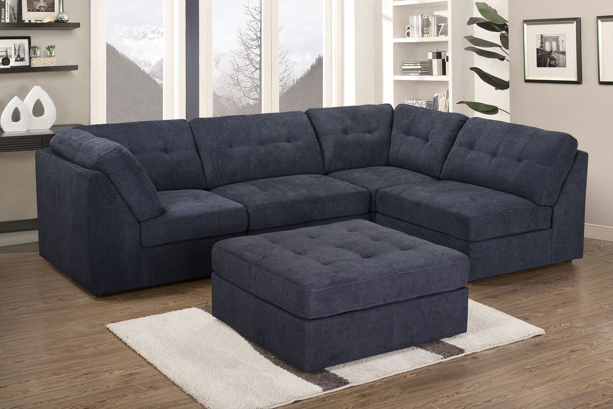 Clayton 4-Piece Sectional + Ottoman from Gardner-White Furniture : sectional ottoman - Sectionals, Sofas & Couches