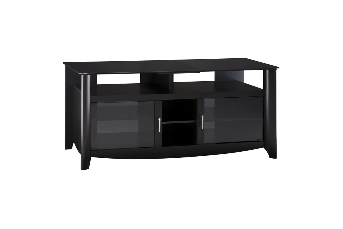 Aero TV Stand in Black by Bush from Gardner-White Furniture