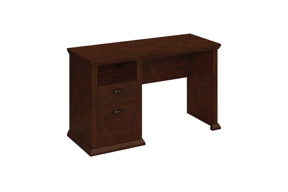 Yorktown Home Office Desk In Antique Cherry By Bush From Gardner White Furniture