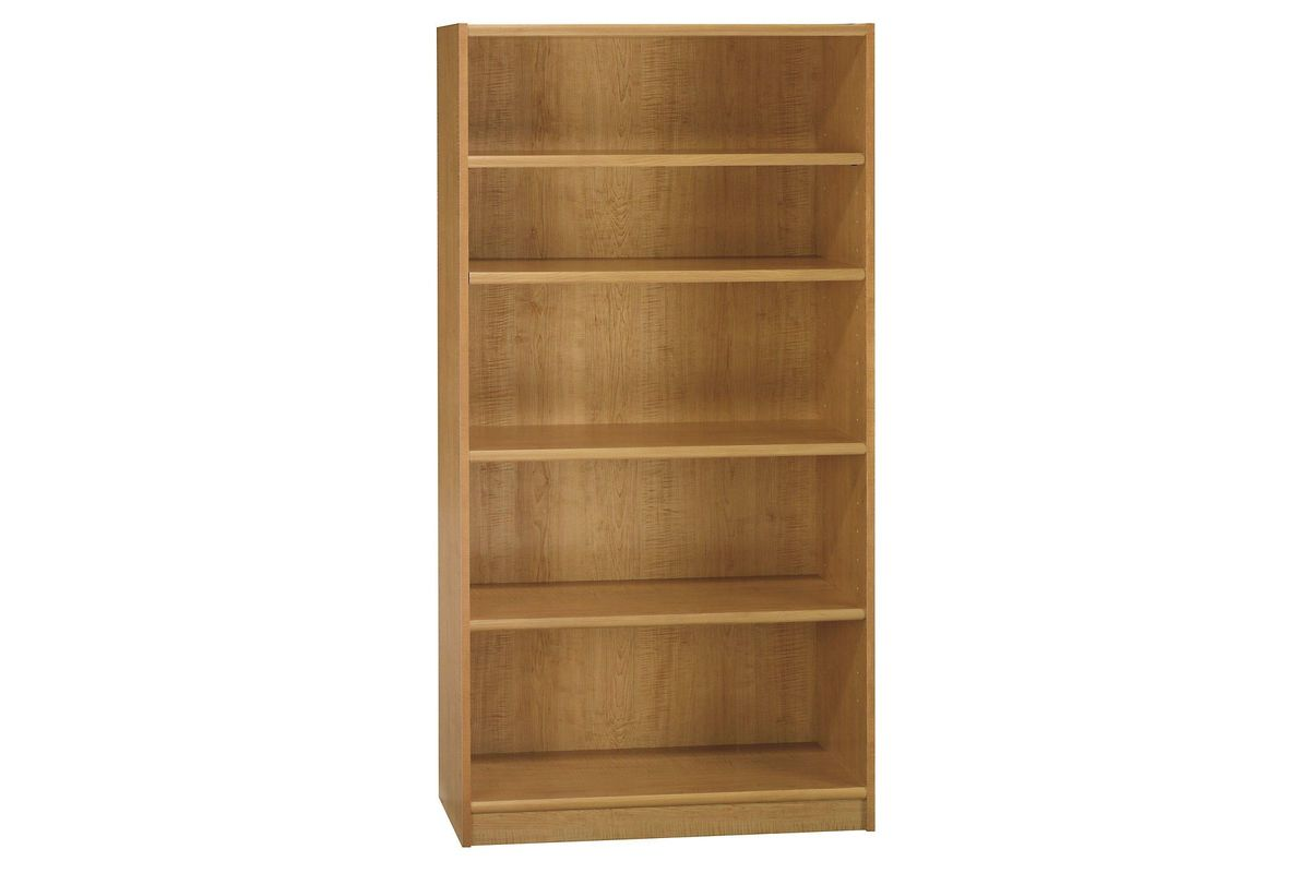 Universal 5-Shelf Bookcase in Snow Maple by Bush from Gardner-White Furniture