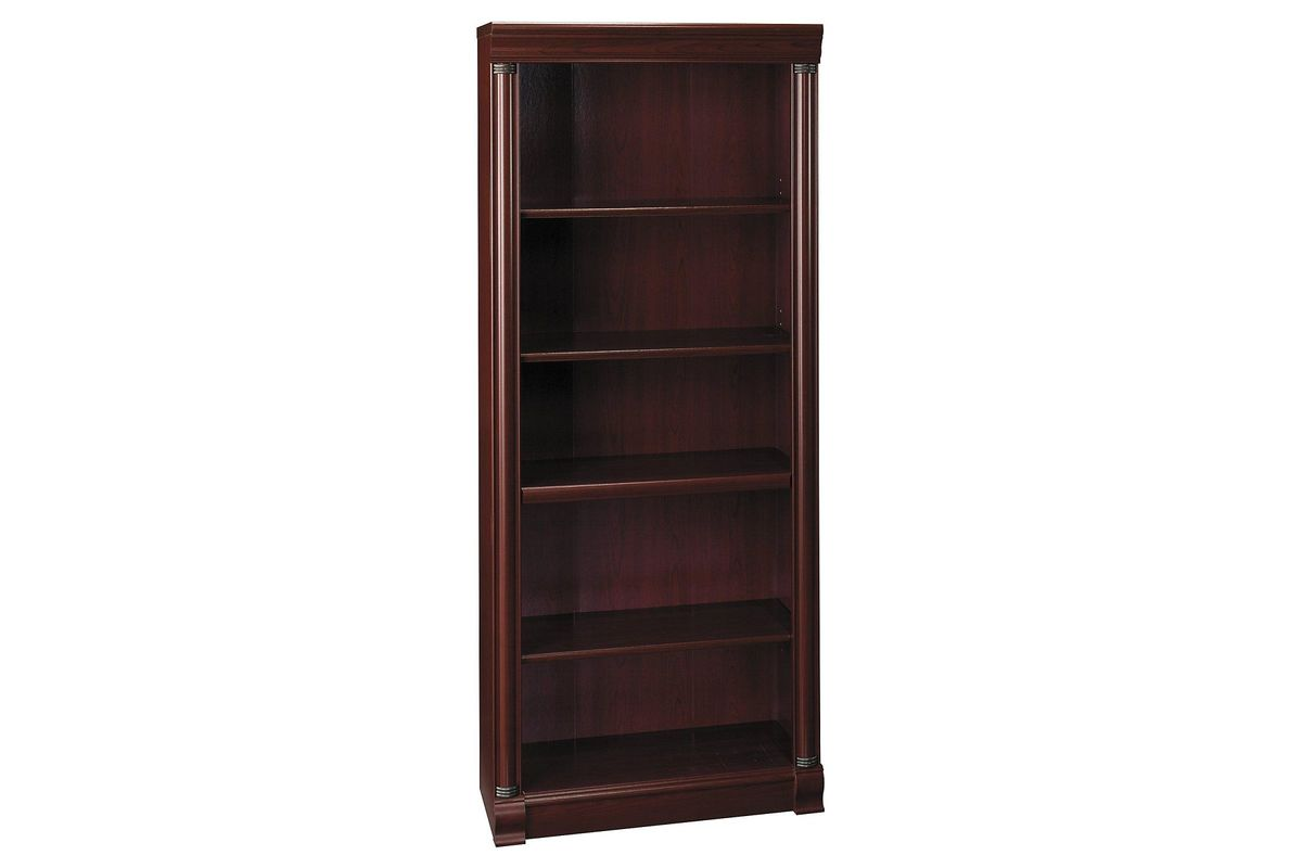 Birmingham 5-Shelf Bookcase in Harvest Cherry by Bush from Gardner-White Furniture