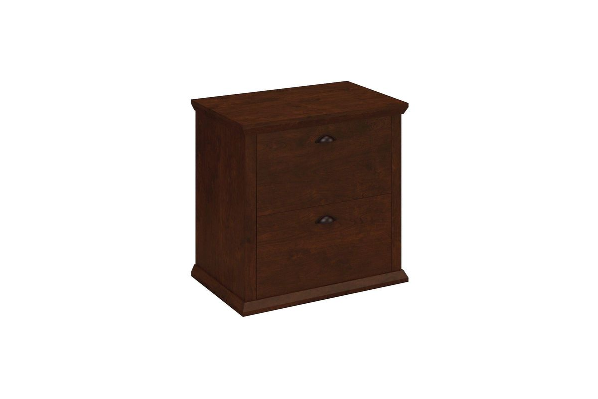 Yorktown Lateral File Cabinet In Antique Cherry By Bush From Gardner White  Furniture