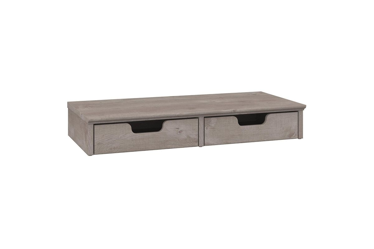 Key West Desktop Organizer With Drawers In Washed Grey By Bush From Gardner White Furniture