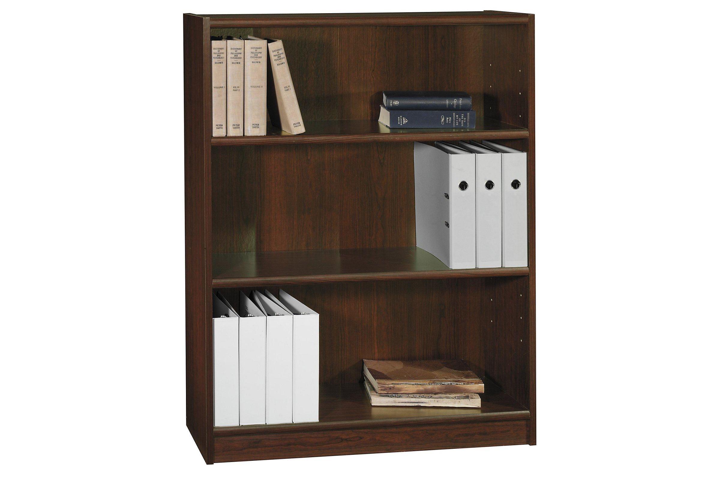 Bush Universal 3 Shelf Wood Bookcase in Vogue Cherry