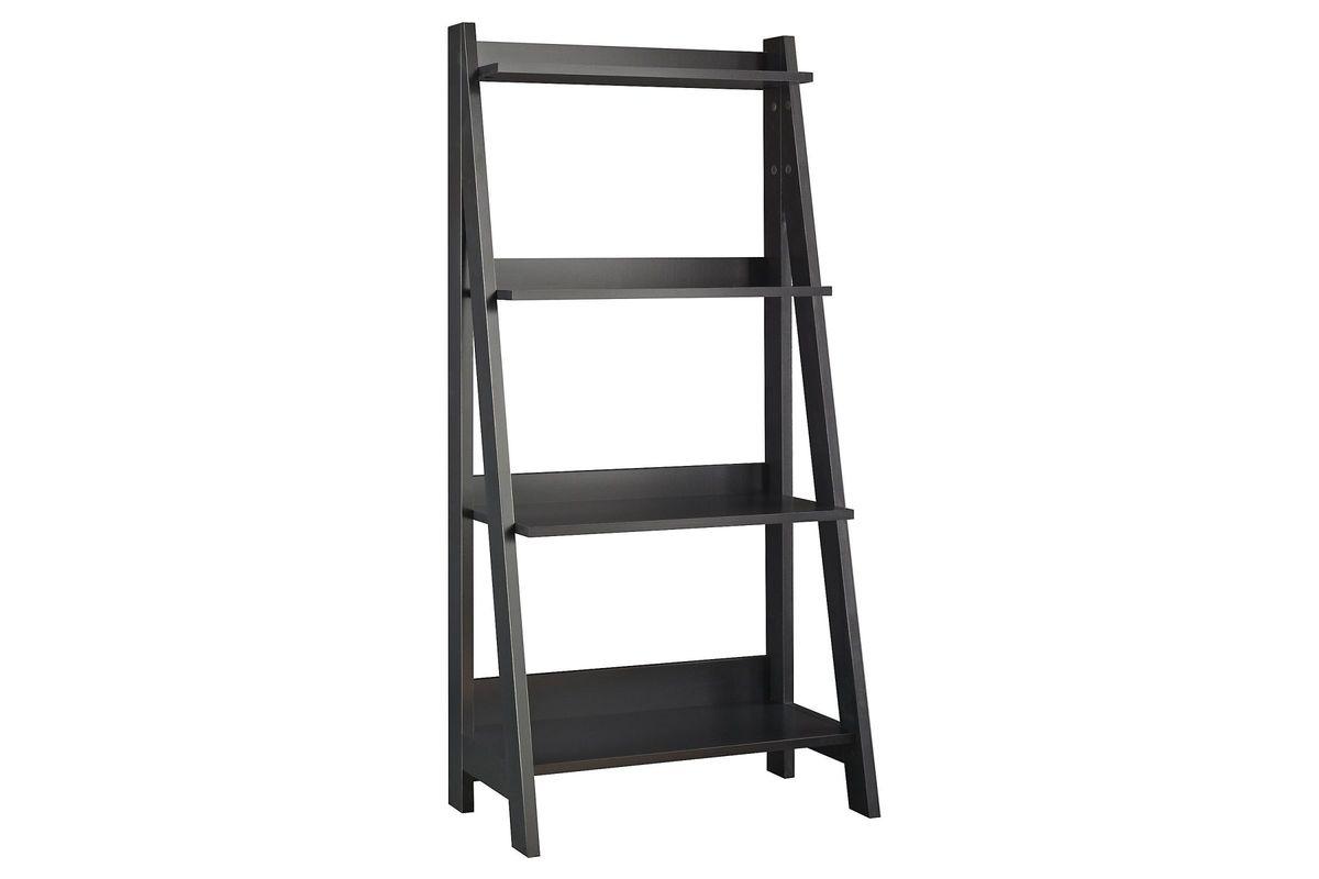 Alamosa Ladder Bookshelf in Classic Black by Bush from Gardner-White Furniture